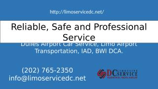 Looking for Car service to Dulles Airport.pptx
