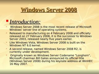 WINDOWS Server 2008.ppt