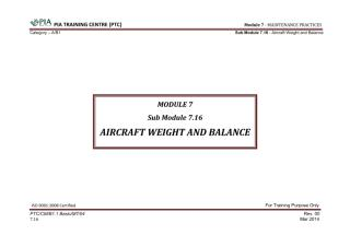 Module 7 (Maintenance Practices) Sub Module 7.16 (Aircraft Weight and Balance).pdf