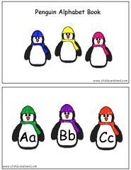الحروف الانجليزية على شكل بطريق للتلوين للأطفال ___