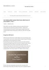 Cara Setting DNS, Instalasi Web Server, Mail Server di Linux Debian 7_ Part 1 - Ikotekno.pdf