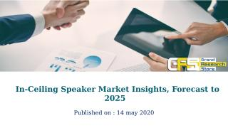 In-Ceiling Speaker Market Insights, Forecast to 2025.pptx