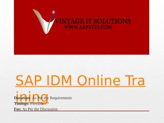 SAP IDM Course Content.pptx