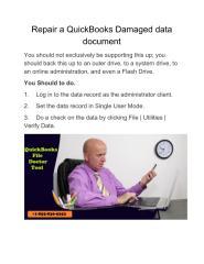 Repair a QuickBooks Damaged data document.pdf