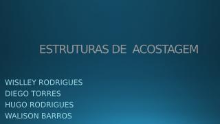 13 - ESTRUTURAS DE  ACOSTAGEM APRESENTAÇÃO.pptx