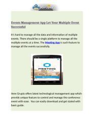 Events Management App Let Your Multiple Event Successful.docx