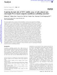 111 biocompatibility-2011-Exploring the dark side of MTT viability assay of cells cultured onto electrospun PLGA-based composite nanofibrous scaffolding materials.pdf